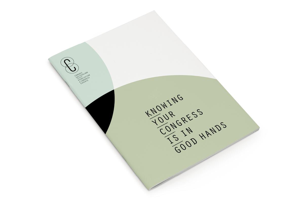 brochure design for congrex switzerland basel
