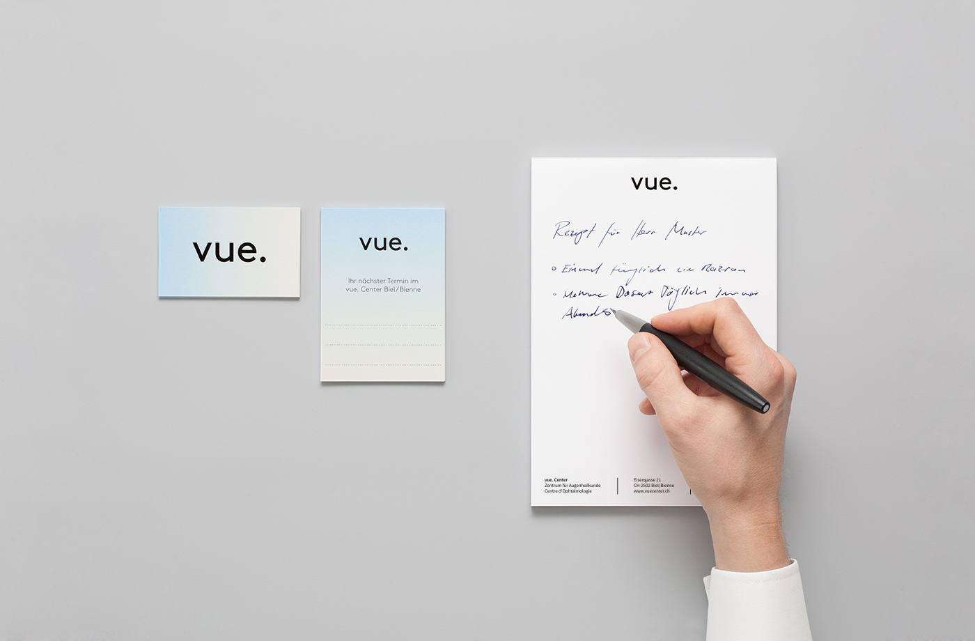brand identity für vue augenzentrum