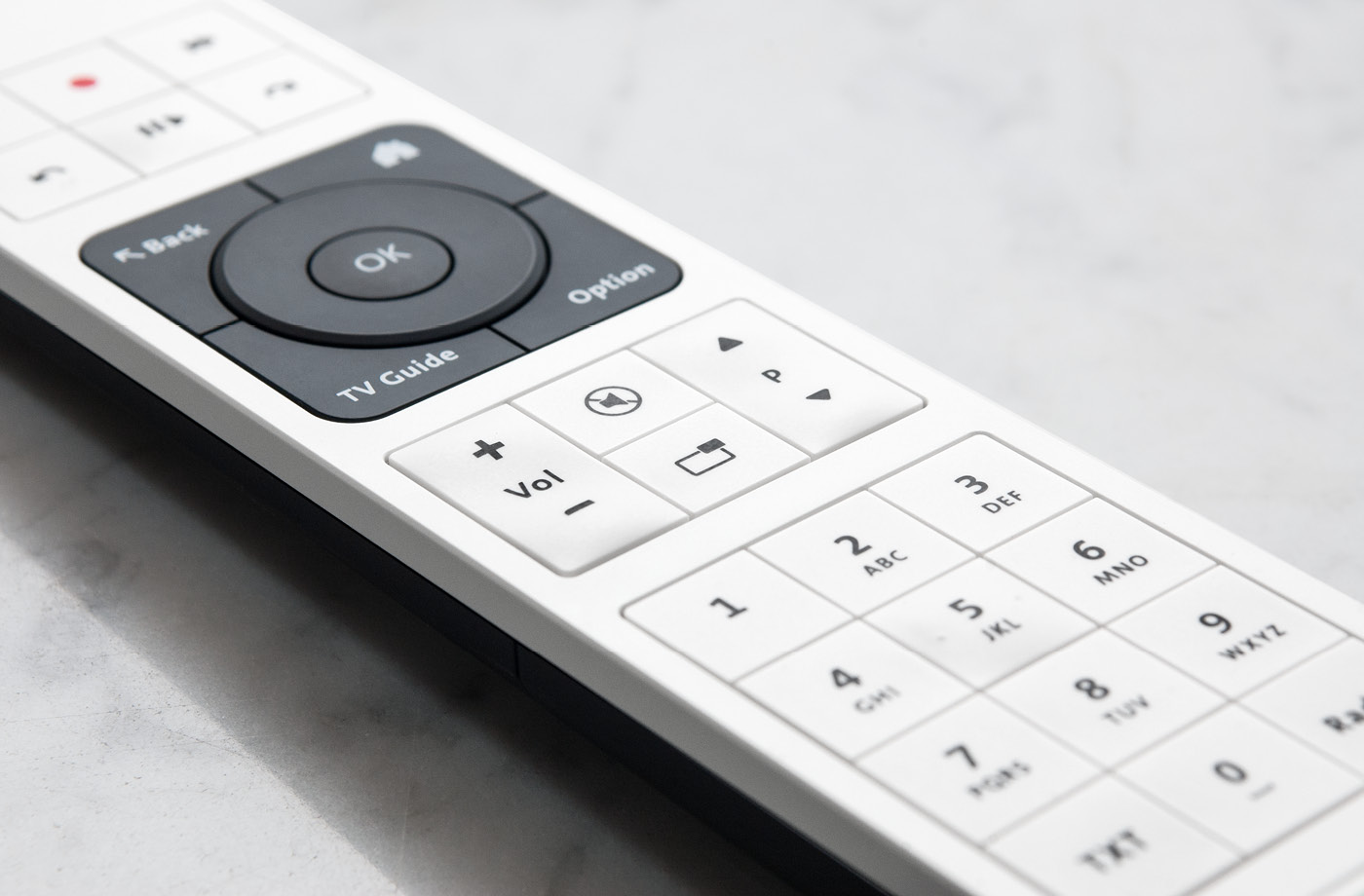 product design of an tv remote