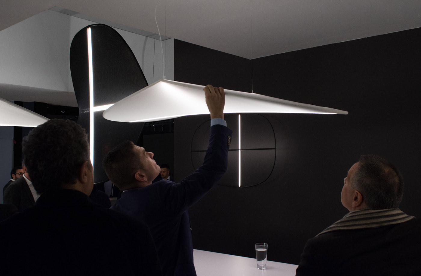 exhibiting our lamp design at light and building in frankfurt