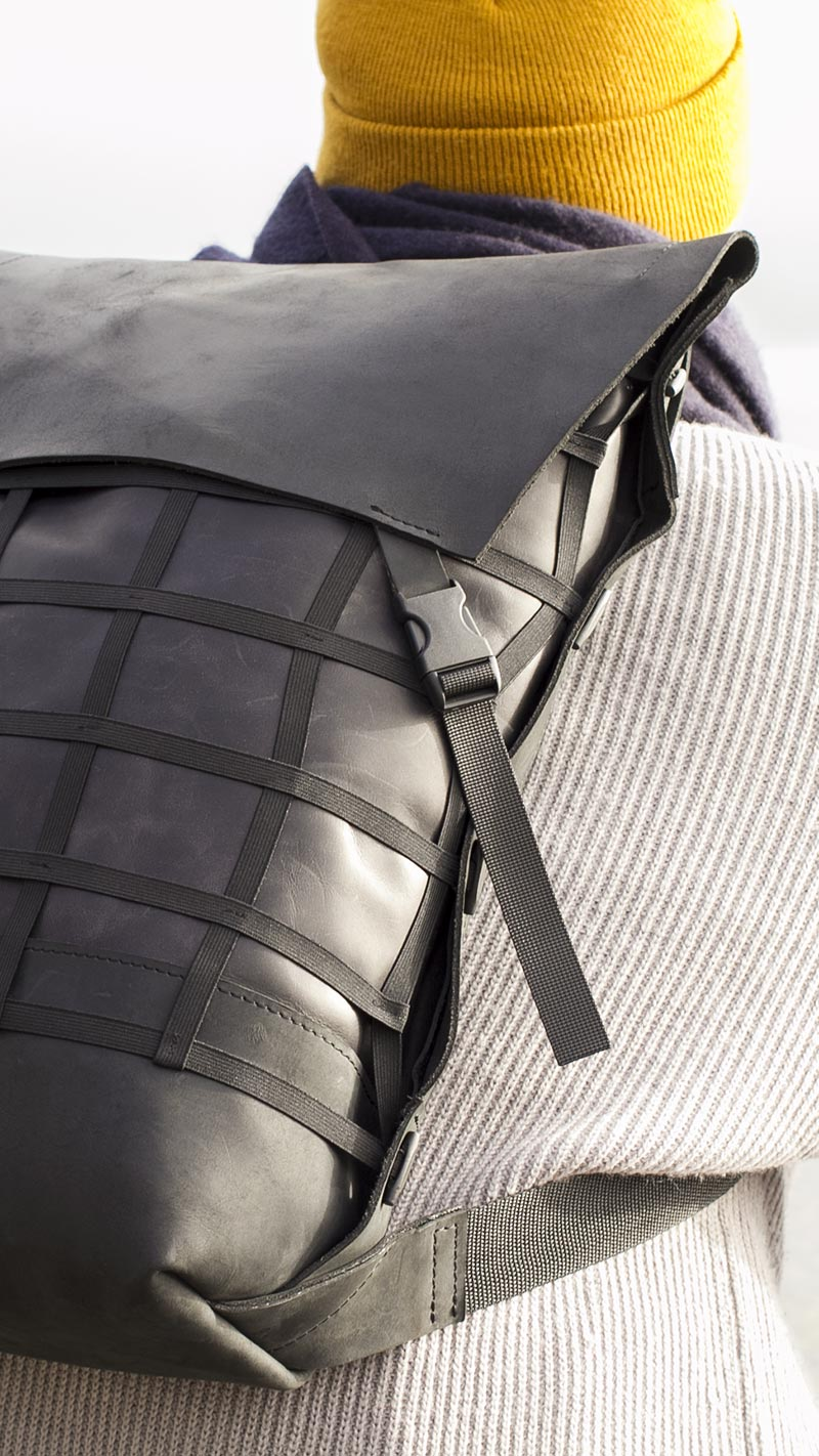 GRID Leather Backpack made by Format Aarau
