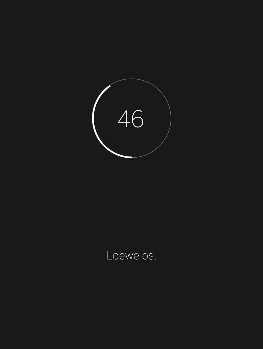 loewe tv interface operating system os