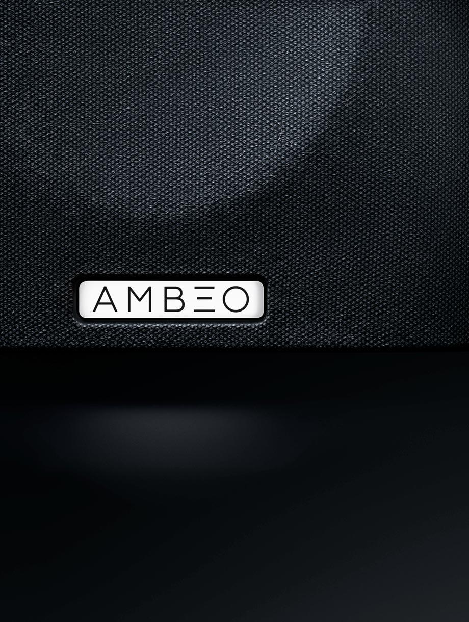 product branding of the ambeo soundbar