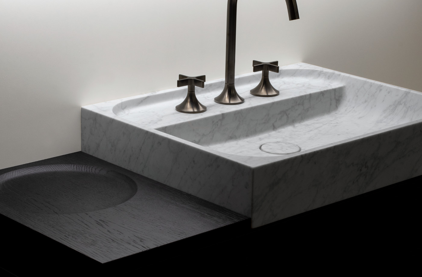 marble washbasin designed by tale designstudio gmbh