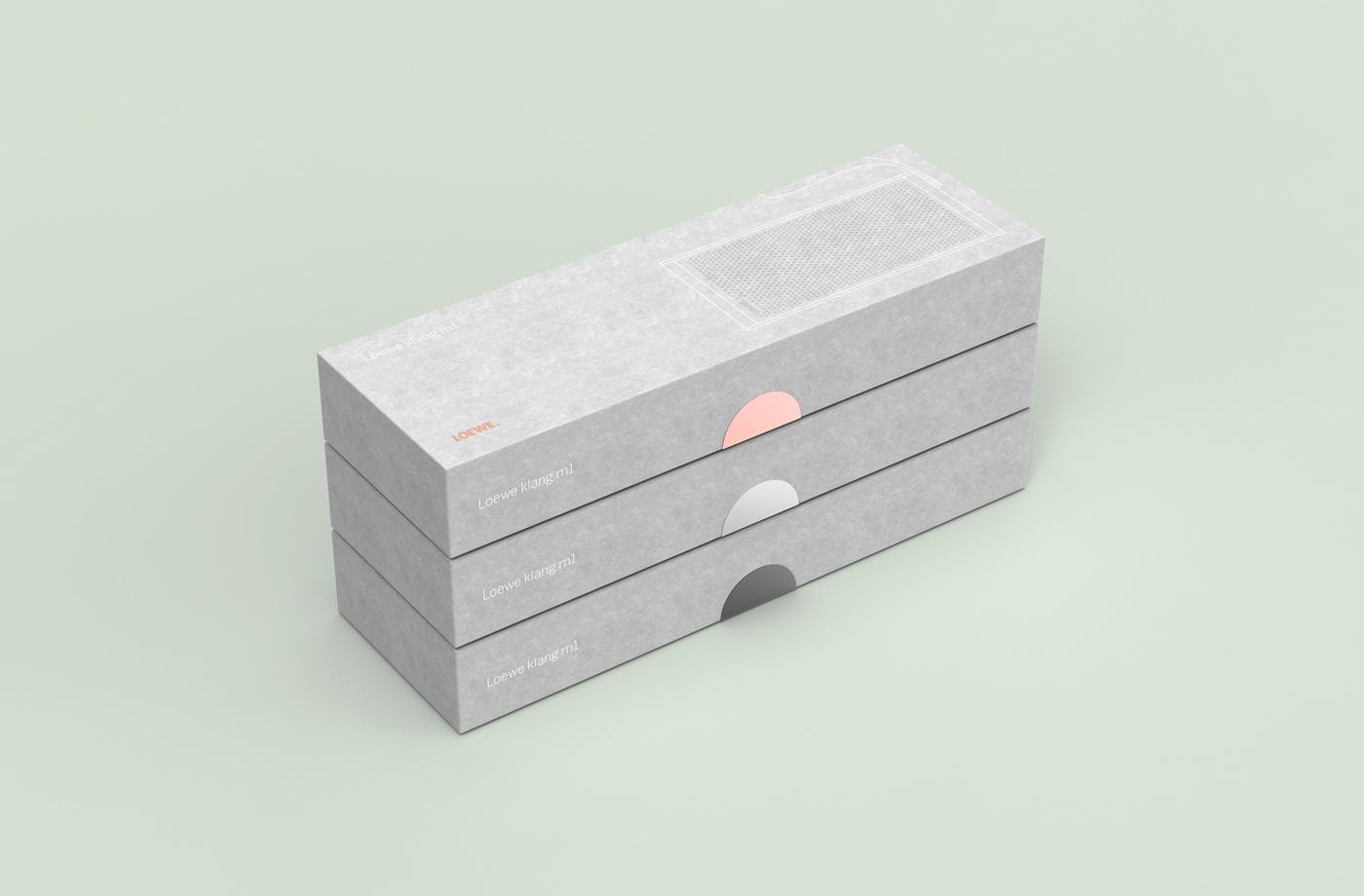 Verpackungs Design für den Loewe klang m1