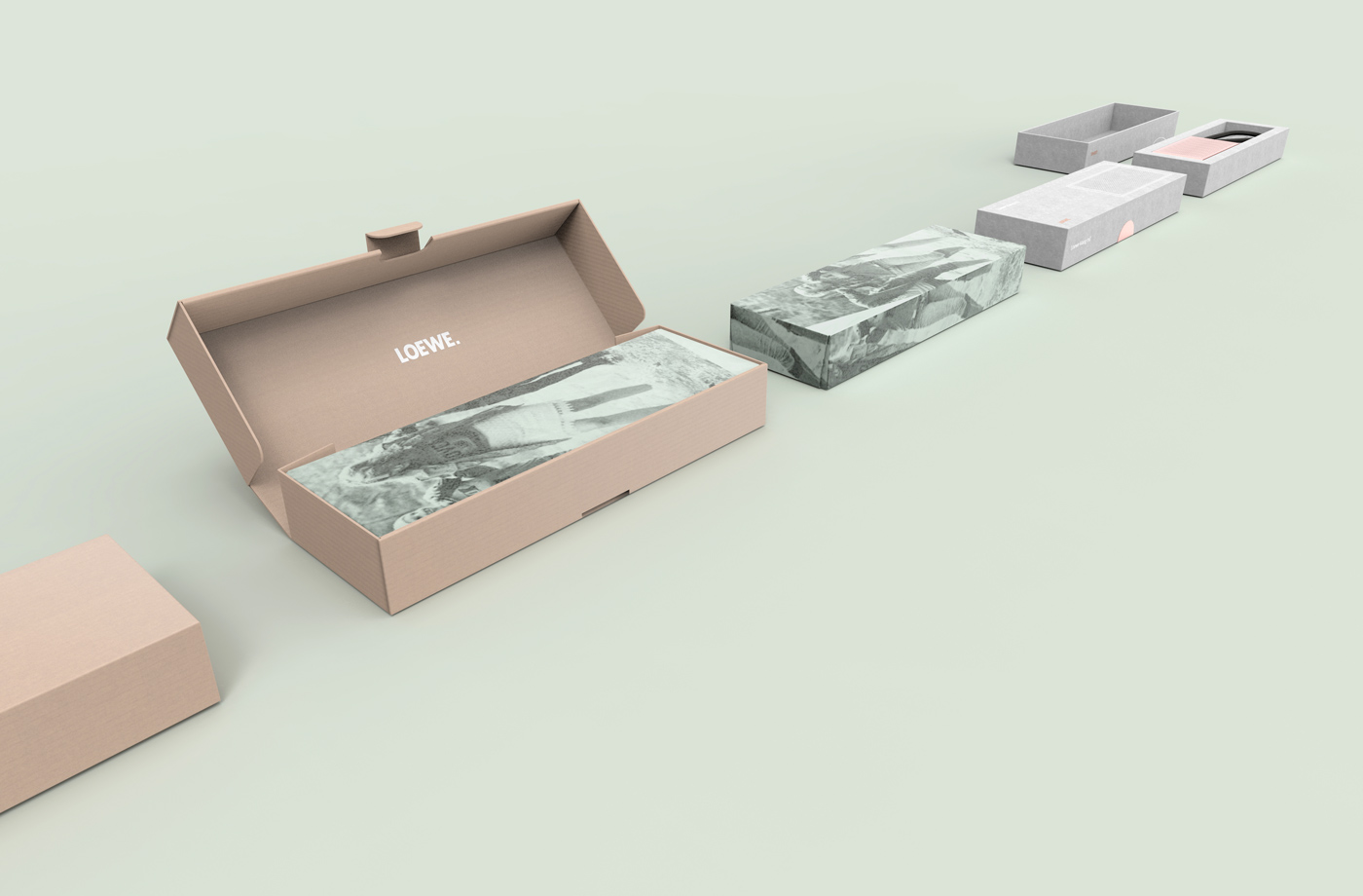 unboxing experience packaging design for loewe